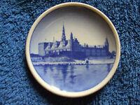 Vintage Royal Copenhagen Denmark Fajance mini wall plaque plate Kronborg Castle