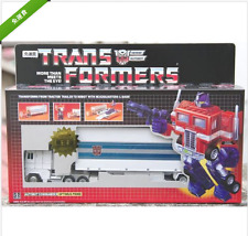 Transformers G1 and name classic white optimus prime + car (limited edition)