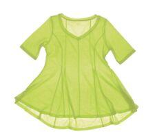 NEW - CHADWICKS Women's SHORT SLEEVE Lime V-NECK TUNIC - M