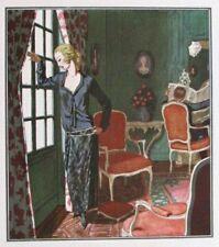P. Brissaud Tête à Tête  Gazette Bon Ton 1922 Pl. 72 Art-Déco Beer
