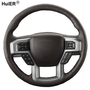 DIY Steering Wheel Cover For Ford F-150 King Ranch Lariat Platinum XLT 2015-2017
