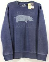 Lucky Brand Pink Floyd Animals Burnout Blue Crewneck Sweater/Sweatshirt