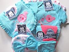 Gerber Baby Girl 11 Piece Onesies Bodysuit Pant Cap and Bib Gift Set 3-9M
