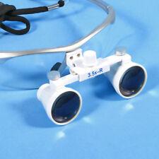 Dentale Surgical Loupes Glasses lupas binoculares 3.5X 420mm color plateado