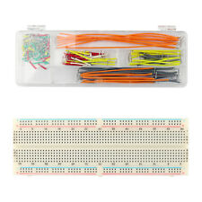 830Tie Points Solderless Pcb Breadboard Mb102+140PcJumper Cable Wires Arduino Ue