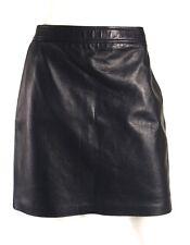 RALPH LAUREN BLACK LABEL Ink Blue Lambskin Leather Pencil Skirt 8