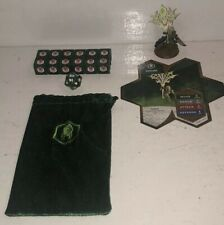Heroscape Acolarh Ullgar Flag Bearer Complete Set Crest Valkyrie Dice Bag Feylun