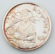 ALASKA MINT 2002 GOLD PANER MINER MEDALLION 1 OZ .999 SILVER ROUND