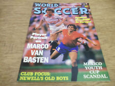 Football Magazine World Soccer August 1988 Marco Basten Malta Newell's Old Boys