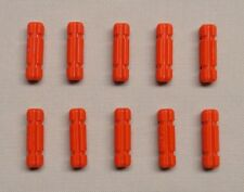 x10 NEW Lego Technic Axle 2 Notched RED