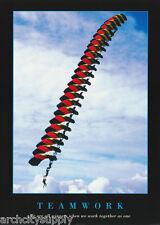 Poster - Sports - Teamwork - Parachuting - Free Shipping ! #Pm5002 Rw16 C