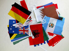 WORLD COUNTRY 32 NATION FLAG 8M 26 FT FABRIC BANNER BUNTING PARTY INTERNATIONAL