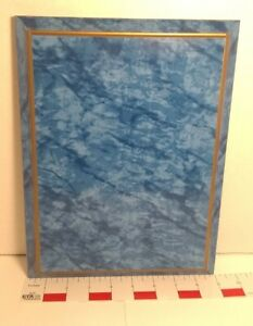 """Blue Marble Patterned Plaque 9"""" x 12"""" Wood Composite New Wall Mount"""