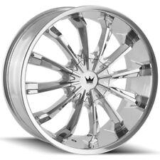"Mazzi 341 Fusion 24x9.5 5x5""/5x5.5"" +18mm Chrome Wheel Rim 24"" Inch"