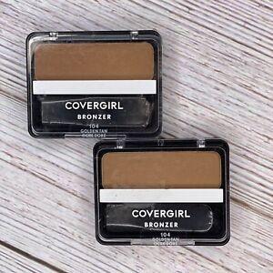 2x Covergirl Cheekers Bronzer 104 Golden Tan