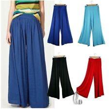Wide Leg Cotton Casual Pants for Women
