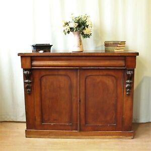 Victorian Two Door Cabinet Chiffonier Sideboard