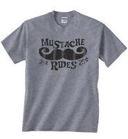 Mustache Rides moustache Funny Humor Joke Rude Sexual Offensive Mens T-shirt