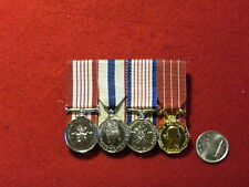 Original Canadian - Post 1953 - Contemporary Group 4 Miniature CF Service Medals