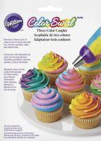 Wilton Color Swirl 3 color tri colour coupler