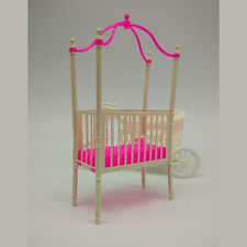 Sweet Crib For Barbie Doll Furniture Kelly Doll's Baby Bed Doll Accessories