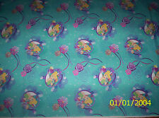 New Turquoise Disney Tinkerbell Petal Perfect 100% cotton fabric by the 1/2 yard