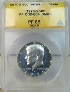 1970 S Kennedy half dollar ANACS PF65DCAM *DDO-004 DMR-5* BR