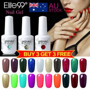 Elite99 Color Gel Polish Nail Art Lacquer Manicure Top Base Coat 15ML Soak Off