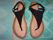 TIME AND TRU BLACK SANDALS WOMEN'S SIZE 9