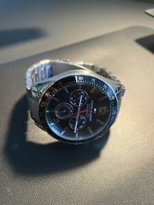 Tommy Hilfiger Luke 1791104 Black & Silver Mens Tachymeter Chronograph Watch