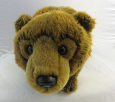 "Webkinz signature Ganz Adopt a Pet Brown Bear 7"" tall x 12"" nose to tail no code"