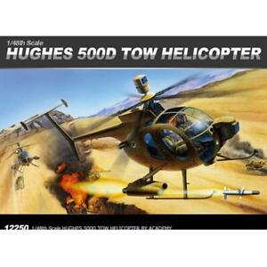 ACADEMY 12250 1/48 HUGHES 500D TOW HELICOPTER PLASTIC MODEL KIT(ACA-12250)