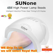 SUNone 48W UV LED Lamp Nail Dryer Fast Curing All Gels 30 Beads Sensor Light ⑤υs
