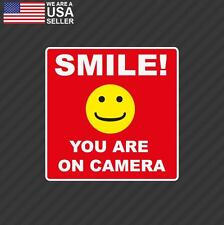 SMILE YOU'RE ON CAMERA Stickers Video Alarm Security System Decal Warning GUN