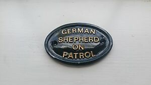 German Shepherd on patrol  ,guard dog,muzzle,dog bed,dog box
