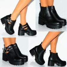 Damenschuhe mit Blockabsatz im wadenhohe Stiefel in EUR 38