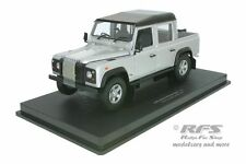 Land Rover Defender 110 pick up-plata negro - 1:18 uh 3883