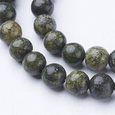 Piedra De Encaje Verde Natural Cuentas Sueltas de 6mm Redondo