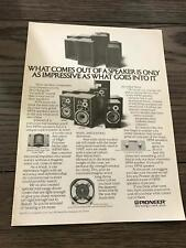 1979 VINTAGE 8X11 PRINT AD FOR Pioneer Speakers HPM 60 100 150 40 SUPERTWEETER
