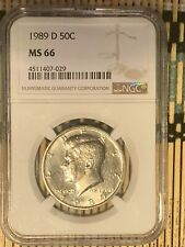 1989 P Kennedy 50c, NGC Certified MS 66