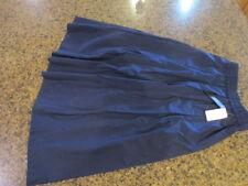 IMNYC Isaac Mizrahi Blue Women's XL A-Line Pleated Elastic-Waist Skirt $79 NWT