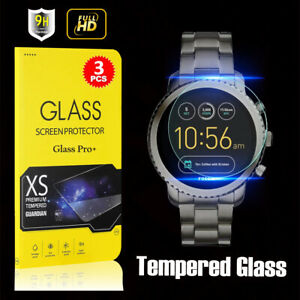[3 PACK] Glass Pro+ Tempered Screen Protector For Fossil 4th Gen Q Explorist HR