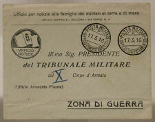 Mail Military Office Concentration Camps P 17.3.16 Envelope Office News #XP519D