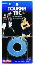 Tourna Tac XL - Blue - 3 Pack Overgrip Overgrips Tennis