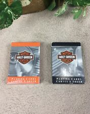 Harley Davidson Playing Cards Cartes A Jouer - Lot Of 2 - New