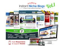 Instant Niche PLR Wordpress Blogs - Volume #1 (10 Fully Loaded Websites)