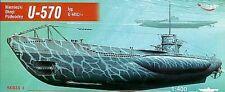 U-570 typ U-VIIC Turm I German Submarine, 1:400, MIRAGE HOBBY 40411
