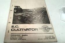 1982 CONNOR SHEA  EC CULTIVATOR  Service  Manual & Parts List