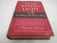 VINTAGE HCDJ 1949 FIRST EDITION LEAD KINDLY LIGHT GANDHI WAY TO PEACE SHEEAN