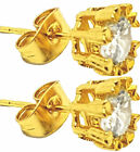 Pair 18K Gold Plated Ear Stud Earrings Piercing Jewelry Mens Womens Gift